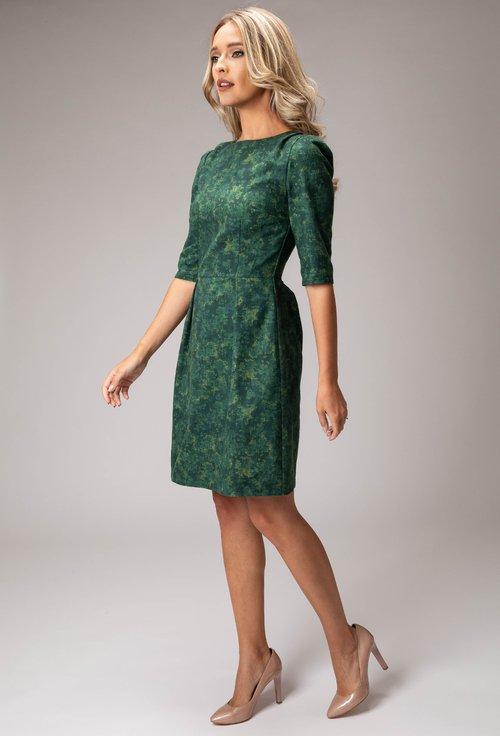 Rochie din bumbac in diferite nuante de verde