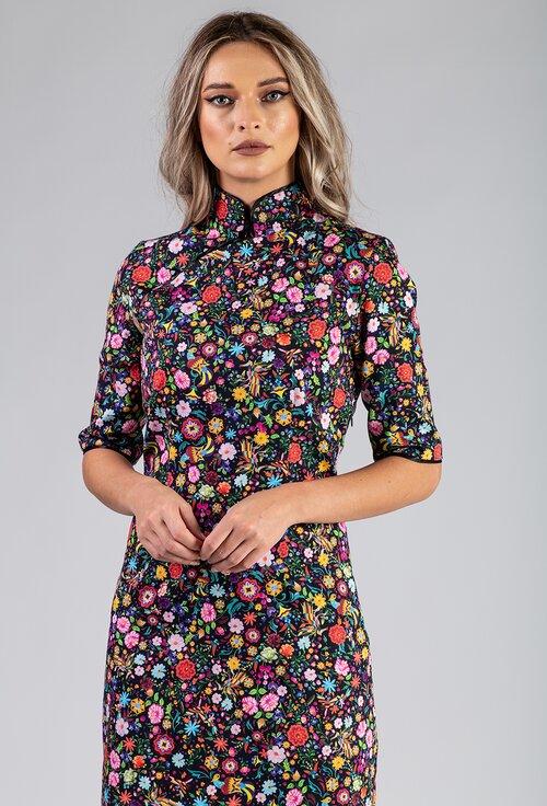 Rochie din bumbac organic cu imprimeu floral