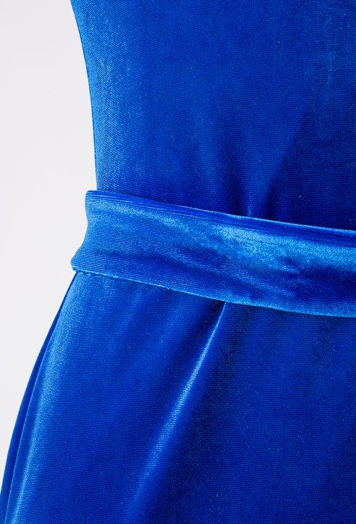 Rochie din catifea, nuanta albastru regal Rose