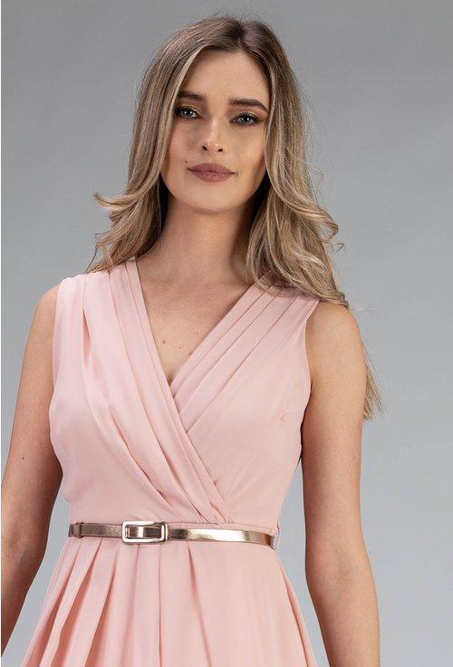 Rochie din voal nuanta roz pal