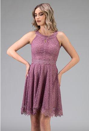 Rochie eleganta lila din dantela