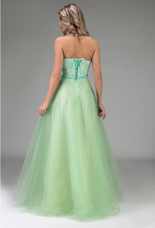 Rochie eleganta lunga nuanta verde deschis