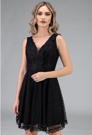 Rochie eleganta neagra cu dantela