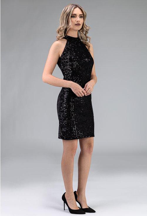 Rochie eleganta neagra cu paiete
