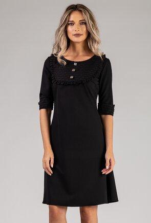 Rochie neagra cu nasturi deosebiți