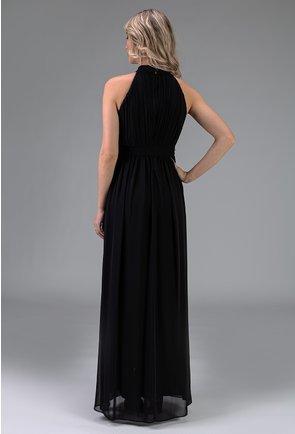 Rochie neagra din voal in stil grecesc