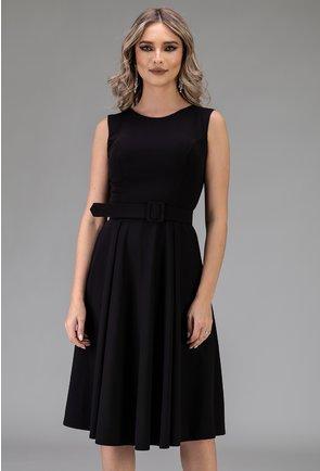 Rochie neagra prevazuta cu o curea