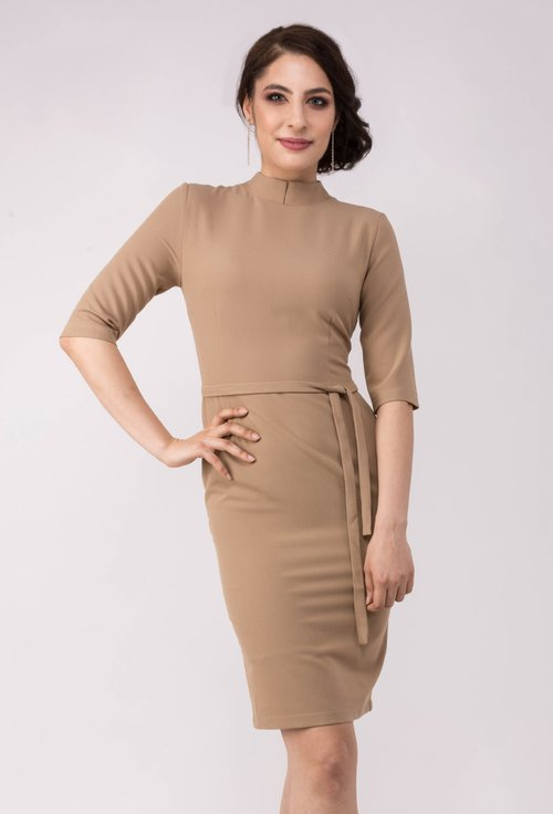Rochie office bej Oxanna - Dasha by Stephan Pelger