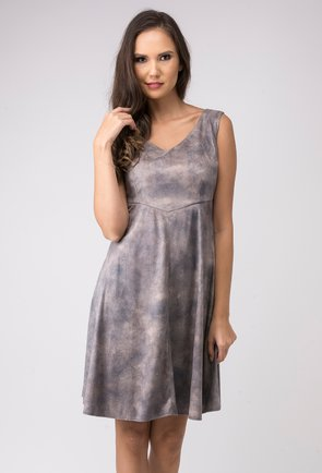 Rochie office gri in degrade Suzi