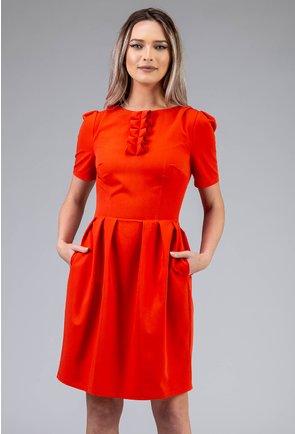 Rochie portocalie cu jabou
