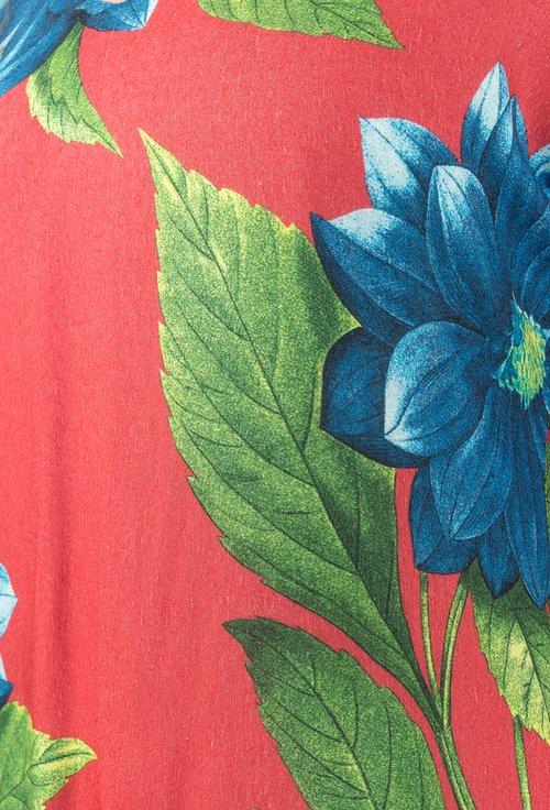 Rochie rosie cu imprimeu floral Inna