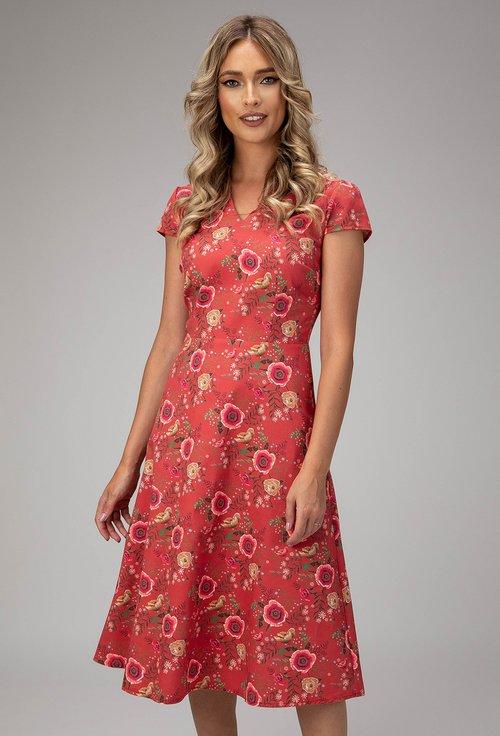 Rochie rosu trandafiriu din bumbac Taylor