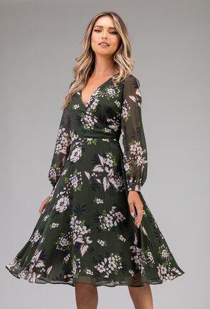 Rochie vaporoasa nuanta verde inchis