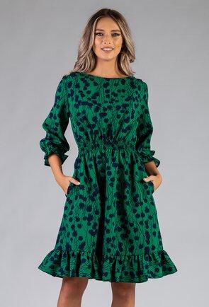 Rochie verde prevazuta cu volan