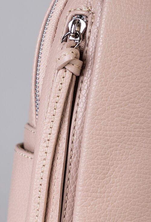 Rucsac din piele naturala nuanta roz pal