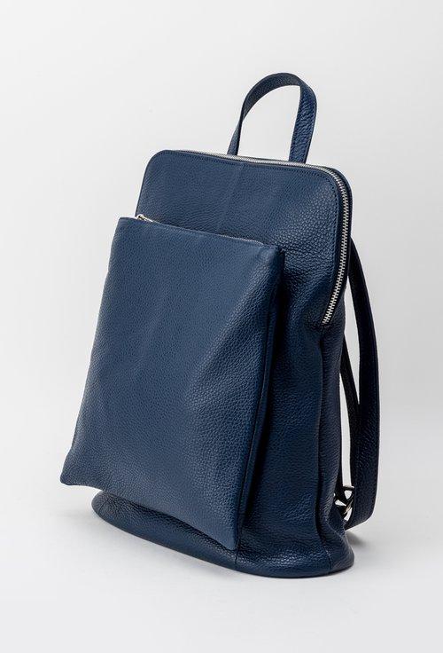 Rucsac geanta bleumarin din piele naturala Lores