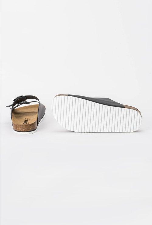 Sandale negre din piele naturala Hanna