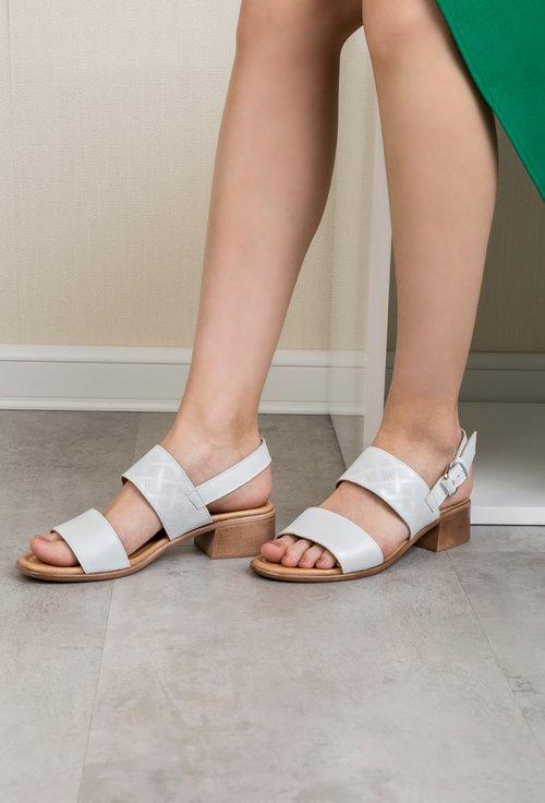 Sandale albe din piele naturala Dorothy