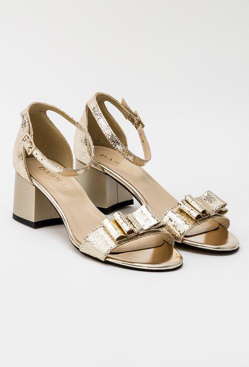 Sandale aurii din piele naturala Jude