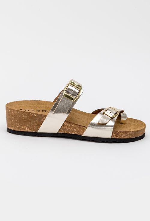 Sandale aurii din piele naturala Lizzie