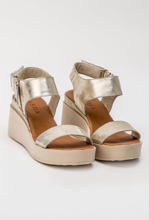 Sandale aurii din piele naturala Sonia