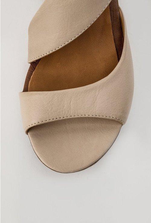 Sandale bej deschis din piele naturala Corelia