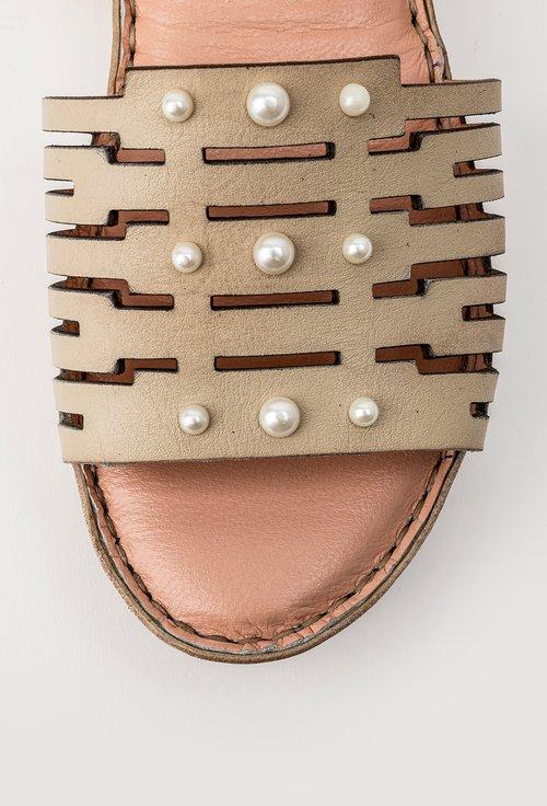 Sandale bej din piele naturala Viki