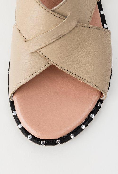 Sandale bej din piele naturala Yoyo