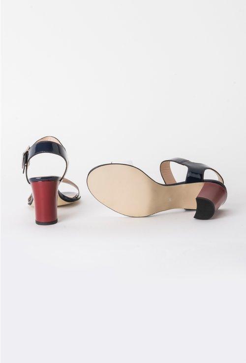 Sandale bleumarin din piele naturala Dean