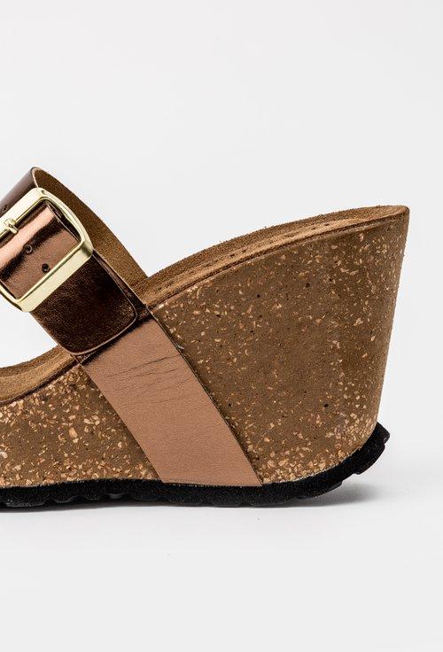 Sandale bronz cu platforma din piele naturala Irin