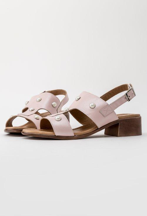 Sandale casual roz pal din piele naturala Perla