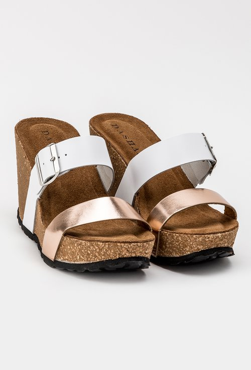 Sandale cu bareta roze cu platforma din piele naturala Irin