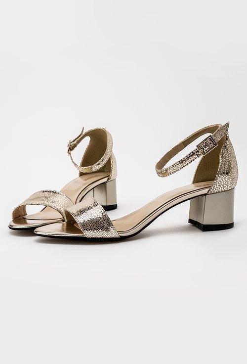 Sandale cu inseratii sclipitoare din piele naturala Jude