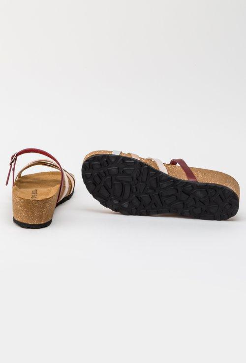Sandale din piele naturala cu barete incrucisate Rita