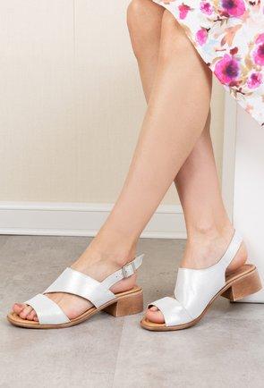 Sandale din piele naturala cu inseratii sclipitoare Betty
