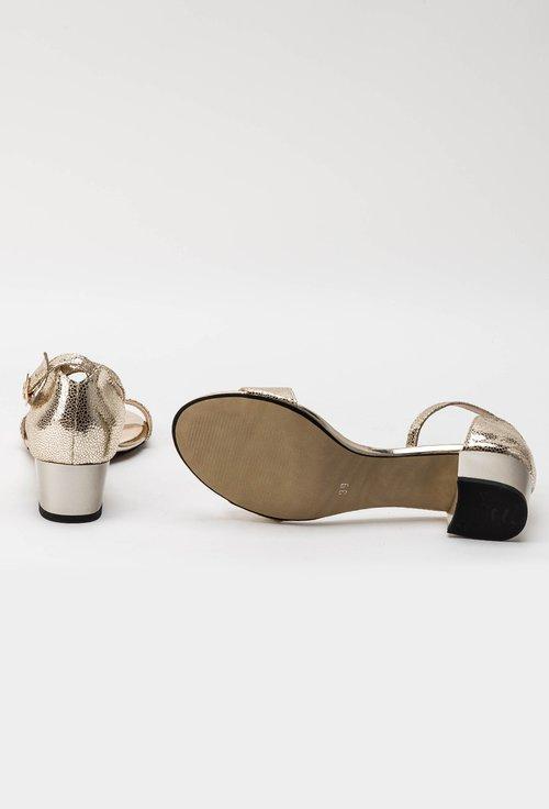 Sandale aurii din piele naturala Medusa