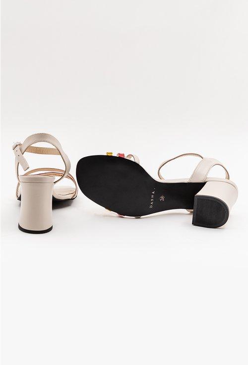 Sandale elegante nude cu barete subtiri