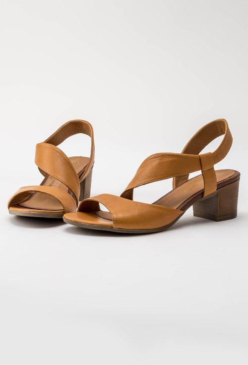 Sandale galben-mustar din piele naturala Corelia