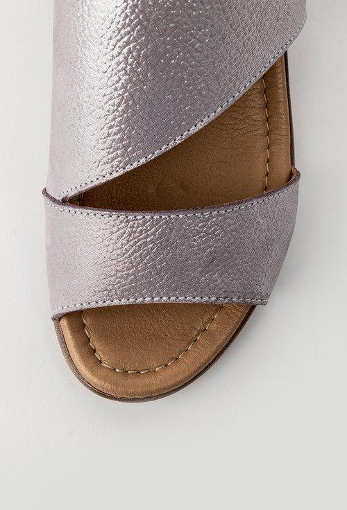 Sandale lila din piele naturala cu inseratii sclipitoare Betty
