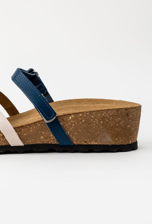 Sandale multicolore din piele naturala cu barete incrucisate Oro