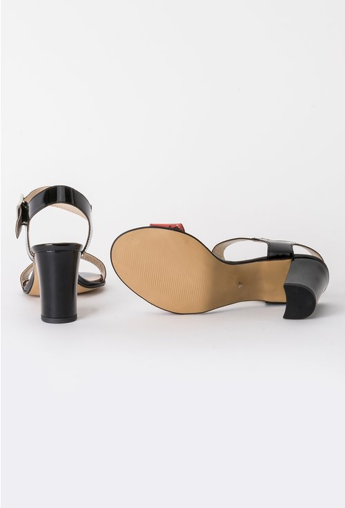 Sandale negre din piele naturala Forever Spring