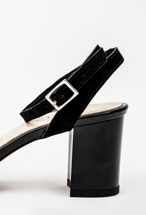 Sandale negre din piele naturala Nadia