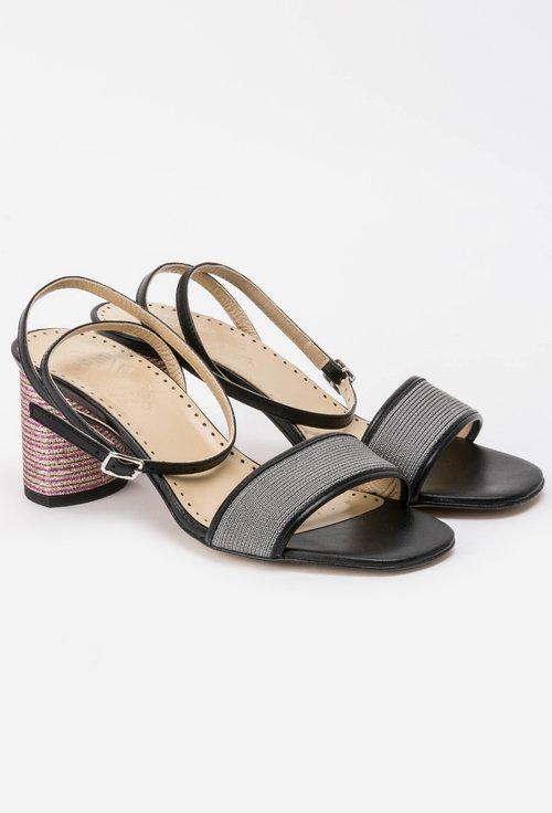Sandale negre din piele naturala Odelia
