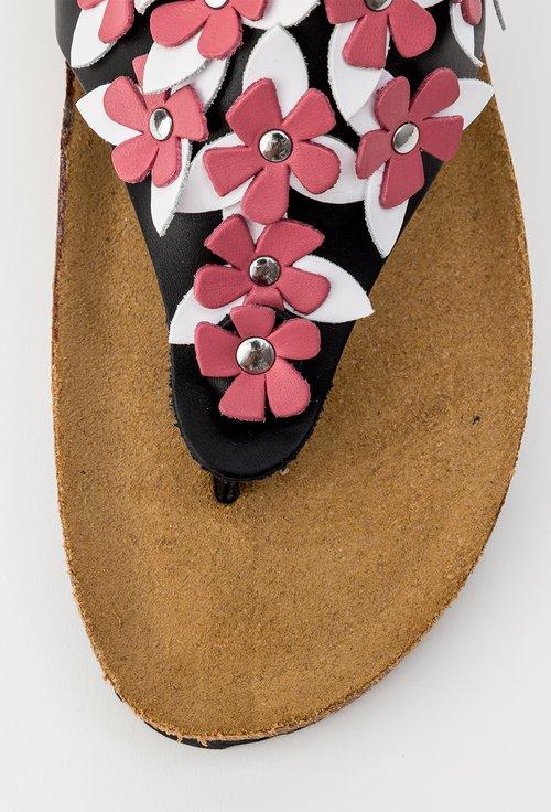 Sandale negre tip papuc din piele naturala Daiana