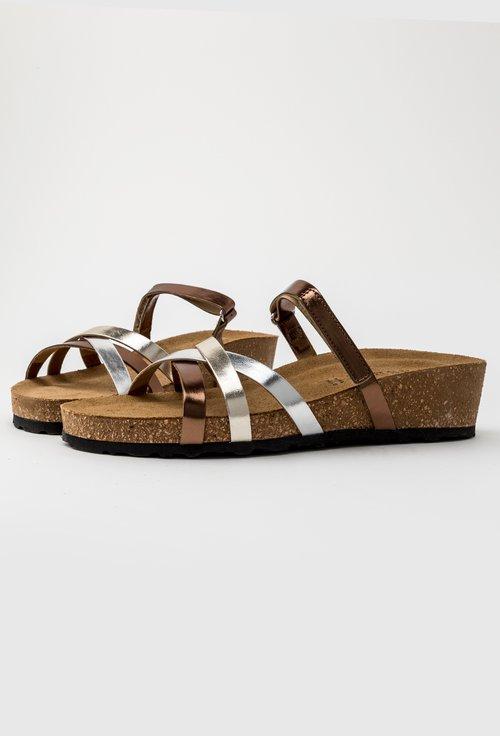 Sandale nuanta bronz din piele naturala Oro
