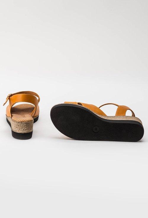 Sandale nuanta mustar- portocaliu din piele naturala Iasmi