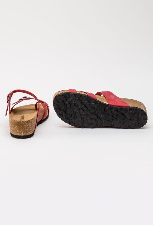 Sandale nuanta rosu trandafiriu din piele naturala intoarsa Lizzie
