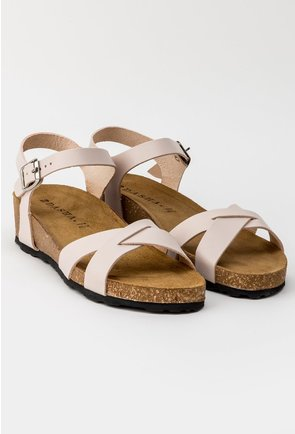 Sandale nude deschis din piele naturala Danielle