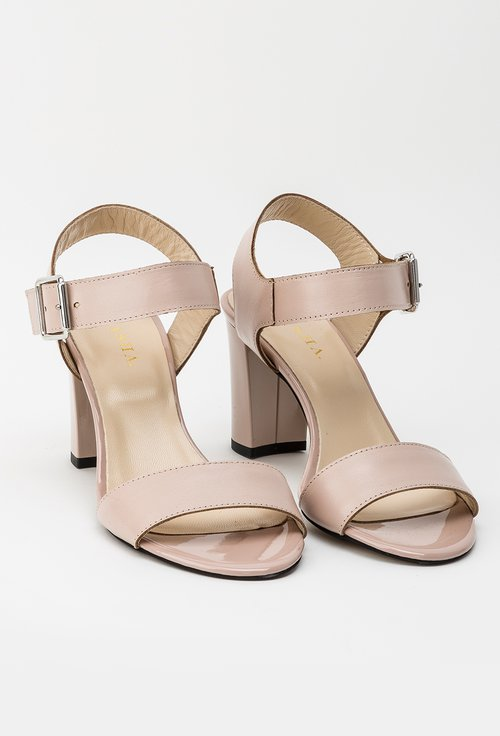 Sandale nude din piele naturala Rose