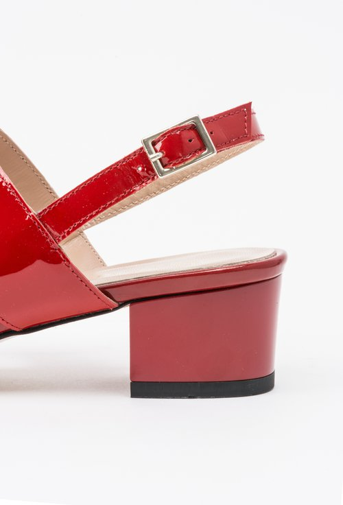 Sandale rosii din piele naturala Camila